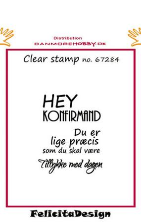 Stempel Felicita design Hey konfirmand