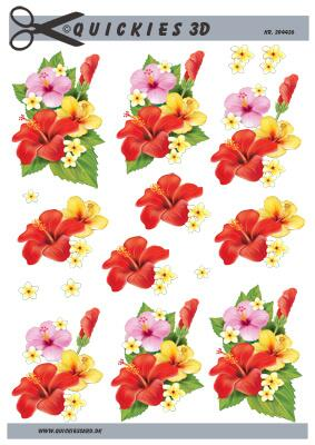 3D ark Quickies Hawaii blomster