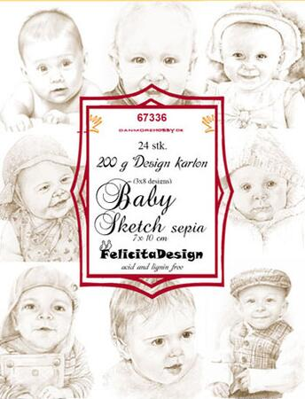Felicita Toppers Baby sketch 24 stk