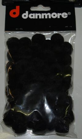 Pompon 20mm sort