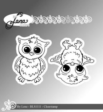 "By Lene stempel ""Owls-2"" BLS1111"