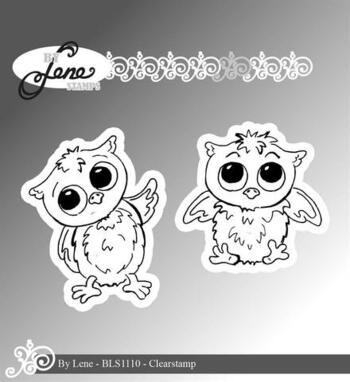 "By Lene stempel ""Owls-1"" BLS1110"