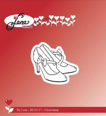 "By Lene stempel ""Wedding Shoes"" BLS1117"