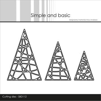 "Simple and Basic die ""String Christmas Trees"" SBD112"