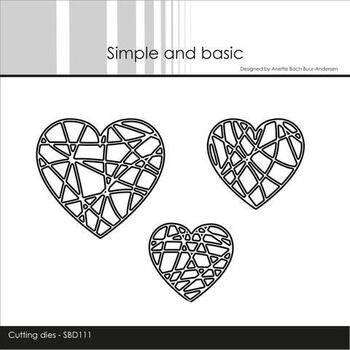 "Simple and Basic die ""String Hearts"" SBD111"