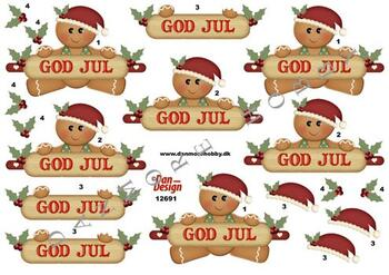 3D ark Dan-design Julekage m.god jul