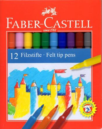 Faber-Castell Tusch 12 farver