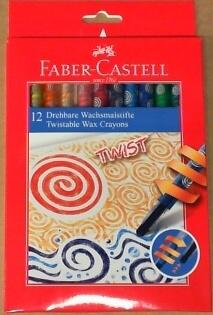 Twist-out wax Crayons 12farver