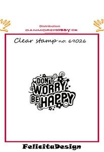 Stempel tekst Don`t worry be happy