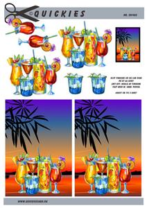 3D ark Quickies Drinks og solnedgang