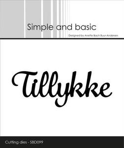 "Simple and Basic die ""Tillykke"" SBD099"